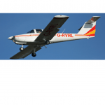 G-RVRL Plane flying in blue sky