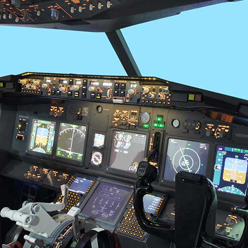 Flight simulator dashboard